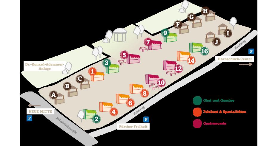 Lageplan Fürther Markt