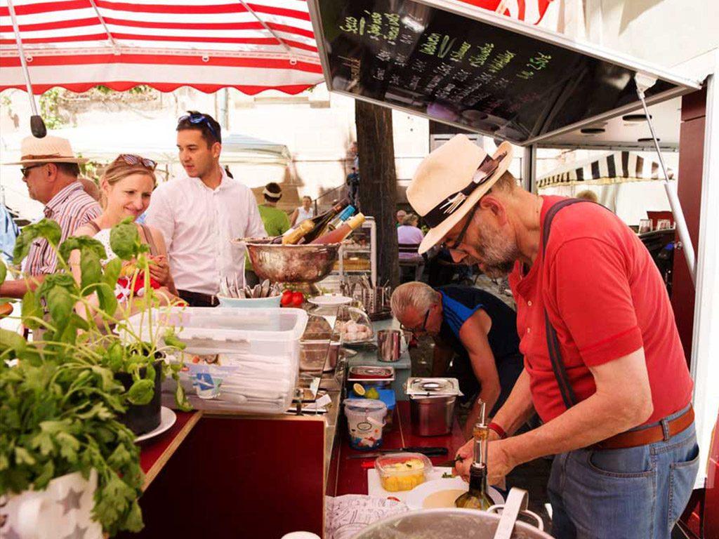 Der Fürther Markt mitten im New Orleans Festival