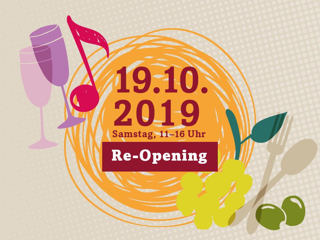 Re-OpeningWiedereröffnung am 19.10.2019, 11–16 Uhr