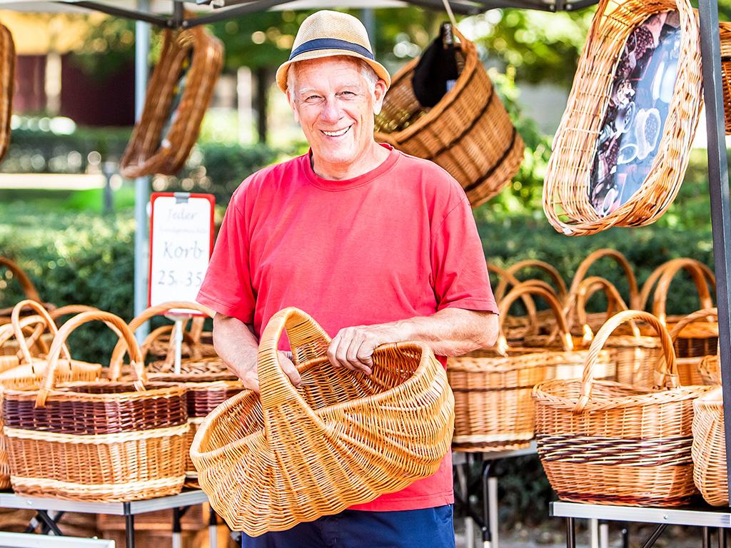 Mobile Markthändler: Leidenberger Korbwaren