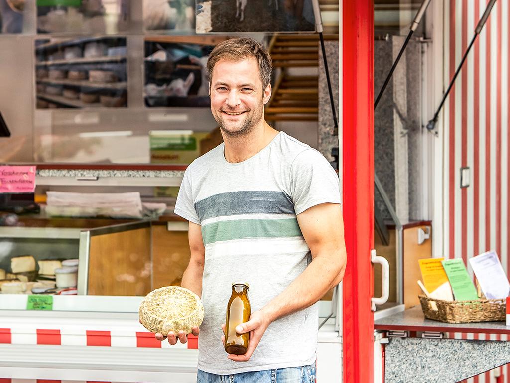 Mobile Markthändler: Ziegenhof Peters Glück